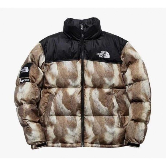 b1c50cb06 Supreme X The North Face Fur Print Nuptse Bomber